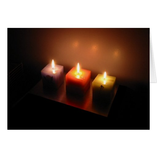 Christmas Candles Greeting Cards
