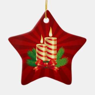 Christmas Candles Red Green ornament