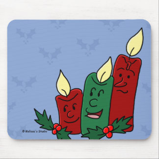 Christmas Candles Trio Mouse Pad