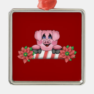 Christmas Candy Can Pig Ornament