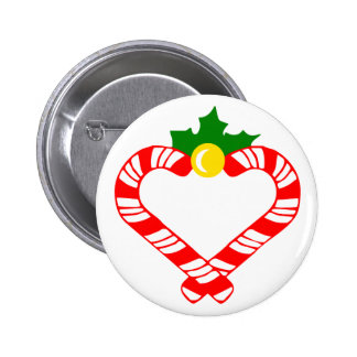 Christmas Candy Cane 6 Cm Round Badge