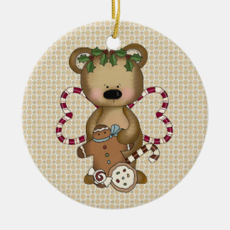 Christmas Candy Cane Bear ornament
