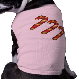 Christmas Candy Cane Candycane Holiday Dog Tee