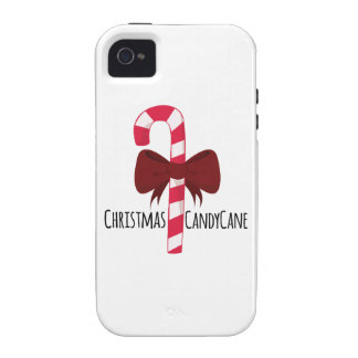 Christmas Candy Cane Vibe iPhone 4 Cover