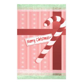 Christmas Candy Cane Gift Set Customized Stationery