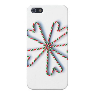 Christmas Candy Cane Heart Flower iPhone 5 Covers