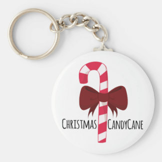 Christmas Candy Cane Keychain