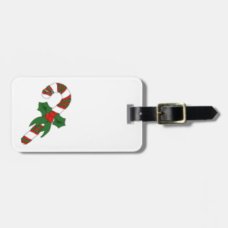 Christmas Candy Cane Luggage Tag