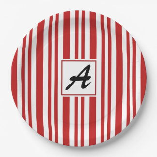 Christmas Candy Cane Party Paper Plate