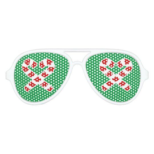 Christmas candy cane party shades Xmas sunglasses