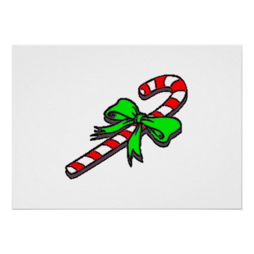 Christmas Candy Cane Print