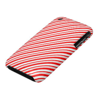 Christmas Candy Cane Striped Red White iPhone 3 Case