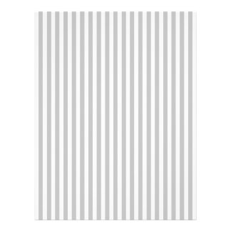 Christmas Candy Cane Stripes in White and Silver Flyer