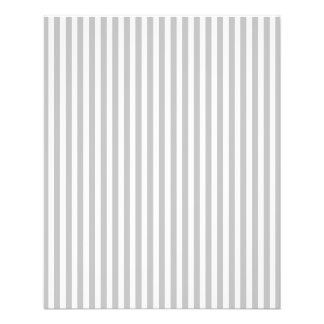 Christmas Candy Cane Stripes in White and Silver Personalized Flyer