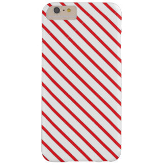 Christmas Candy Cane Stripes Pattern Barely There iPhone 6 Plus Case