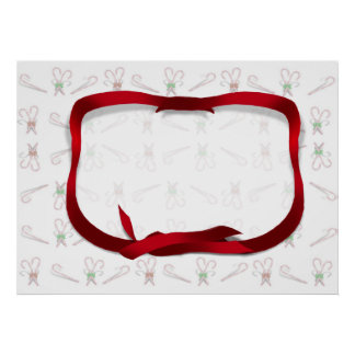 Christmas Candy Canes Background Poster
