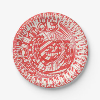 Christmas Candy Canes Instruments Paper Plates 7 Inch Paper Plate