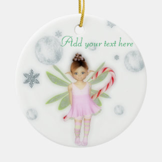 Christmas candy fairy customisable ornament