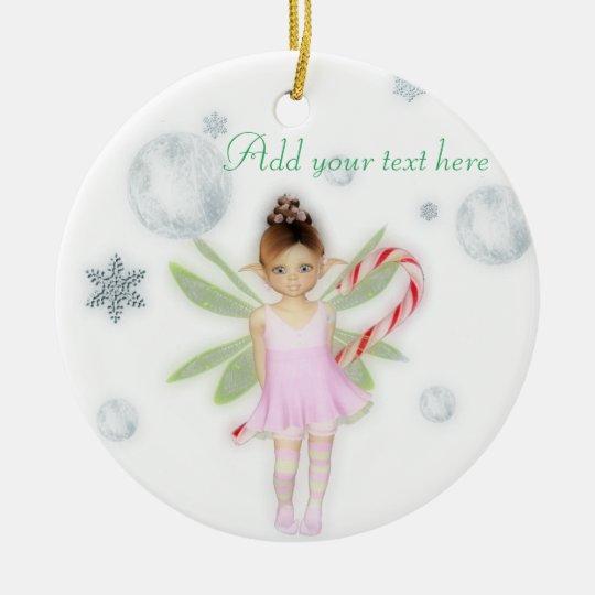 Christmas candy fairy customisable ornament