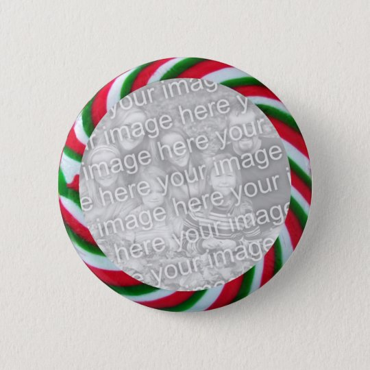 Christmas Candy Framed Photo Button