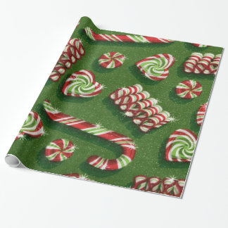 Christmas Candy Glossy wrapping paper