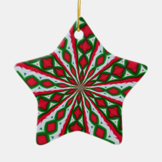 Christmas Candy Kaleidoscope Ceramic Star Decoration
