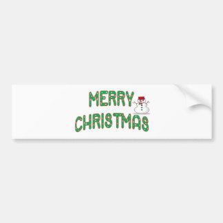 Christmas Candy Stick Bumper Sticker