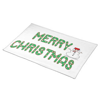 Christmas Candy Stick Placemat