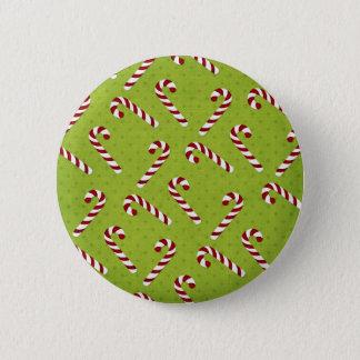 Christmas Candycanes 6 Cm Round Badge