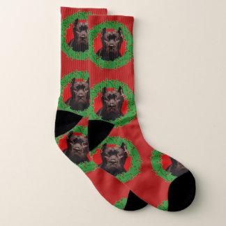 Christmas Cane Corso dog socks 1