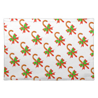 Christmas cane placemat