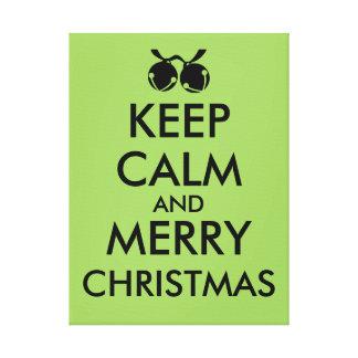 Christmas Canvas Art Keep Calm Jingle Bells Custom Canvas Print
