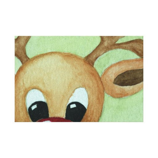 Christmas canvas canvas prints zazzle for Christmas paintings easy