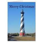 Christmas Cape Hatteras Lighthouse Greeting Card