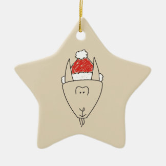 Christmas Capricorn Red Star Astrology Chic Trendy Christmas Ornament