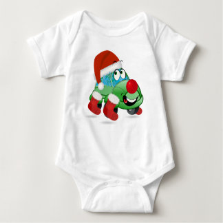 Christmas Car Cartoon Baby Jersey Bodysuit