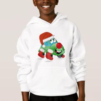 Christmas Car Cartoon Boy's Hoodie