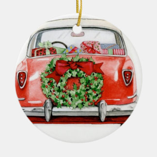 CHRISTMAS CAR TREE ORNAMENT