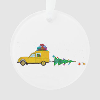 Christmas car with gifts