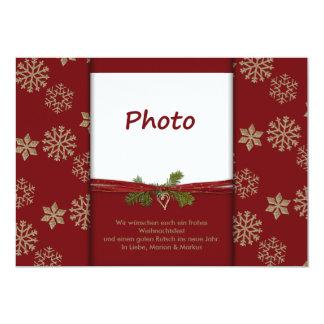 Christmas card 13 cm x 18 cm invitation card