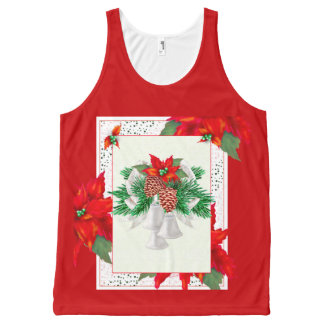 CHRISTMAS CARD 1 All-Over Printed Unisex Tank
