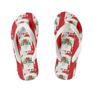 CHRISTMAS CARD 1 Flip Flop  Adult, Slim Straps 2