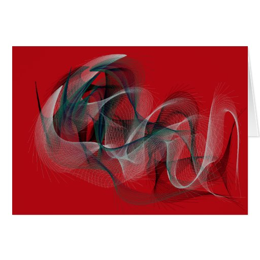 Christmas Card  Abstract Red and Green