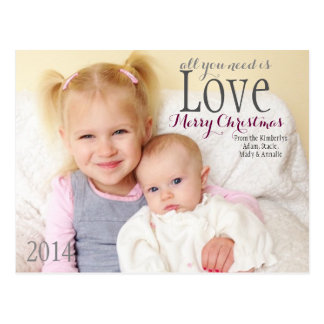 Christmas Card - All you need is Love