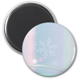 Christmas Card Backdrop 6 Cm Round Magnet