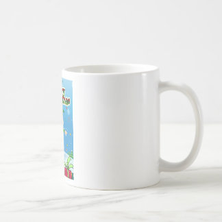 Christmas card basic white mug