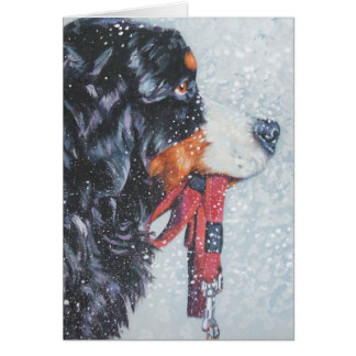 Christmas Card Bernese Mountain Dog