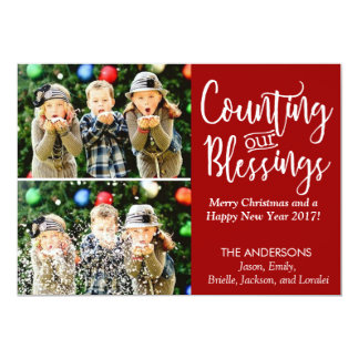 Christmas Card Blessings with Photo