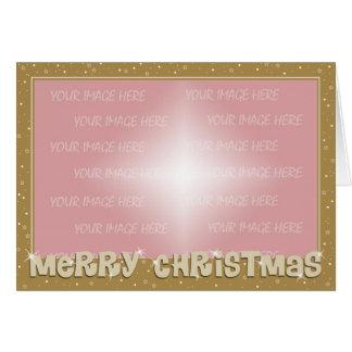 Christmas Card Border - Gold