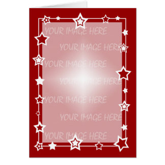 Christmas Card Border Template Vertical
